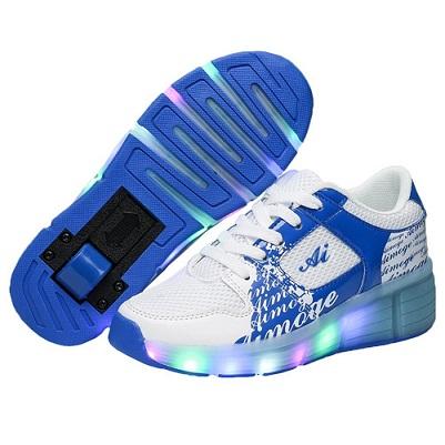 zapatillas con ruedas led de colores