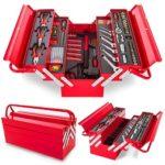 Caja de herramientas completa Greencut con 118 piezas por 59 euros. Antes 136 euros