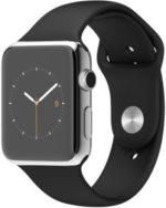 Apple Watch 42 mm barato. Smartwatch iOS acero inoxidable en plata, pantalla 1.5″, Apple S1 a 520 MHz, 8 GB, 512 MB RAM por 314,23 euros. Antes 619 euros