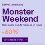 Monster Weekend de eBay con chollos y descuentos de más del 60%