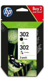 Pack de 2 cartuchos de tinta negro y tricolor HP 302 al mejor precio