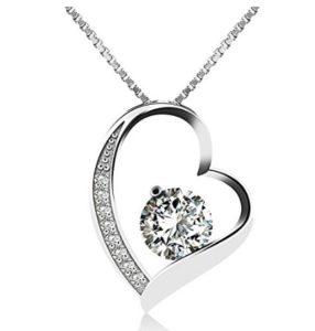 marca popular rendimiento superior comprar el más nuevo Collar de plata con diamante para mujer | Regalos y Chollos