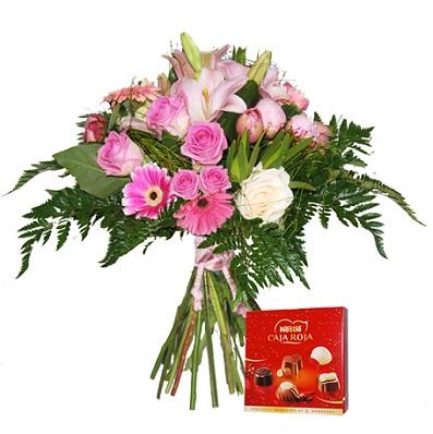 ramo de flores con bombones comprar online