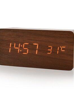 reloj despertador digital de madera comprar online