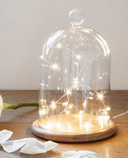 campana de cristal con luces led barata