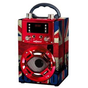 altavoz karaoke rojo barato