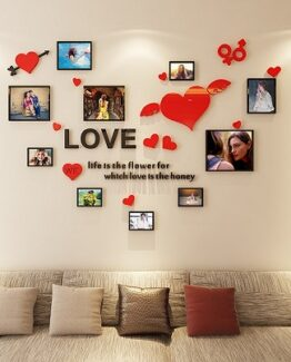 marco de fotos vinilo corazones comprar online