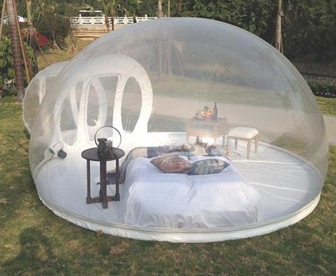 tienda de campaña burbuja