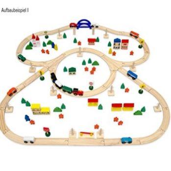 circuito de tren y pueblo de madera comprar online
