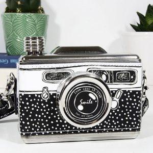 petaca con forma de camara de fotos comprar online