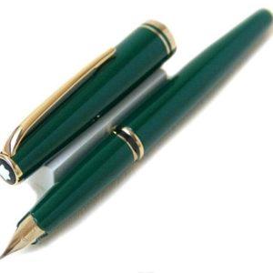 pluma estilografica montblanc verde barata