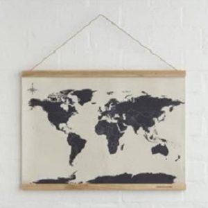 mapa del mundo marco de madera comprar online