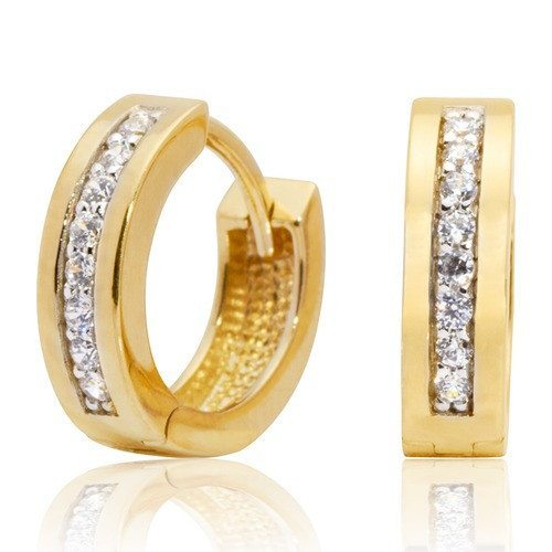 pendientes de oro con circonita