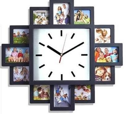 reloj de pared con fotos personalizadas