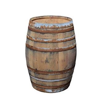 barril mesa madera de roble barata