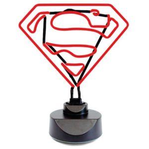 lampara de neon superman
