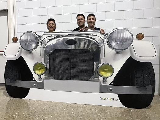 photocall coche descapotable
