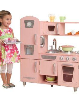 cocinita madera cintage rosa kidkraft comprar online