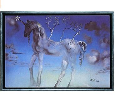 cuadro con unicornio se ilumina comprar online