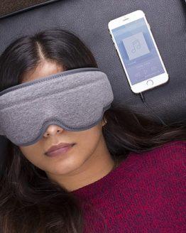 antifaz dormir con auriculares baratos