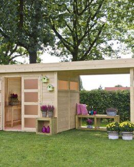 comprar caseta de madera con pegola precio barato online