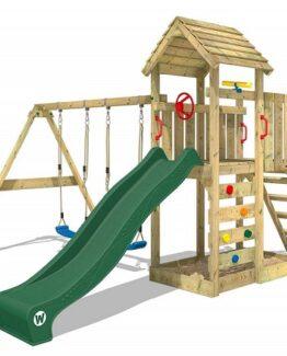 comprar parque infantil de madera columpio barato