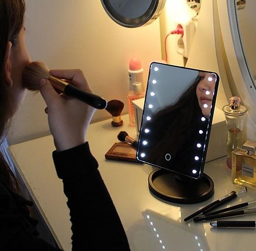 comprar espejo de mesa maquillaje led precio barato