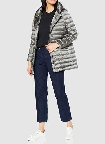 comprar abrigo geox mujer gris precio barato online